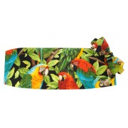 Tropical Jungle Birds Cummerbund and Bow Tie Set